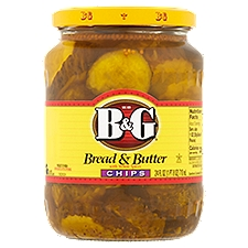B&G Bread & Butter Chips Pickles with Whole Spices, 24 Fluid ounce