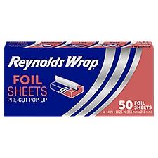 Reynolds Wrap Foil Sheets Pre-Cut Pop-Up 14x10.25, 50 Each
