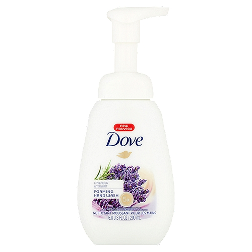 Inspired by nature, Dove Foaming Hand Wash with Lavender & Yogurt scent transforms every hand wash into a moment of calm to look forward to.
