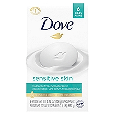 Dove Sensitive Skin Beauty Bar, 6 Each