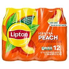 Lipton Iced Tea Peach - 12 Pack Bottles, 202.8 Fluid ounce