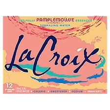La Croix Sparkling Water Naturally Pamplemousse Essenced, 144 Fluid ounce