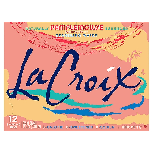 La Croix Naturally Pamplemousse Essenced Sparkling Water, 12 fl oz, 12 count