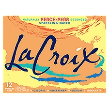 La Croix Sparkling Water Naturally Peach-Pear Essenced, 144 Fluid ounce