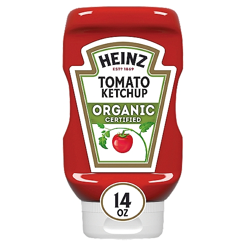 The ketchup you love, made with USDA certified organic tomatoes and natural seasonings. • No GMOs* *USDA organic standards prohibit the use of GMO ingredients