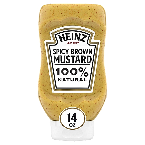 This bold and flavorful mustard is made with 100% natural ingredients, including stone ground mustard seeds and a secret blend of spices and vinegar.