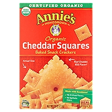 Annie's Homegrown Cheddar Squares Crackers, 7.5 Ounce
