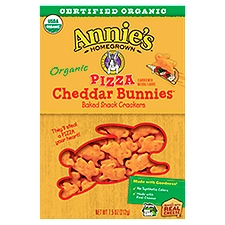 Annie's Homegrown Pizza Cheddar Bunnies Baked Snack Crackers, 7.5 Ounce