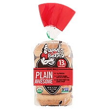Dave's Killer Bread Plain Awesome Organic Bagels, 16.75 Ounce