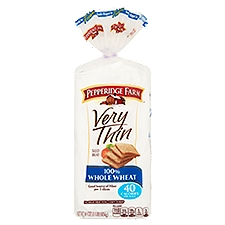 Pepperidge Farm®  Very Thin 100% Whole Wheat Bread - Very Thin, 16 Ounce