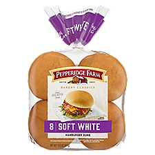 Pepperidge Farm Bakery Classics - Soft White Hamburger Buns, 12.25 Ounce