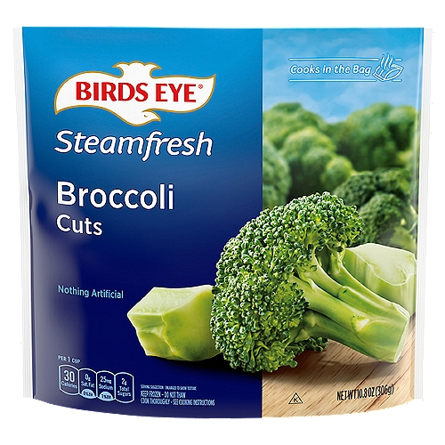 Fresh frozen vegetables. Perfectly steams in the bag!
