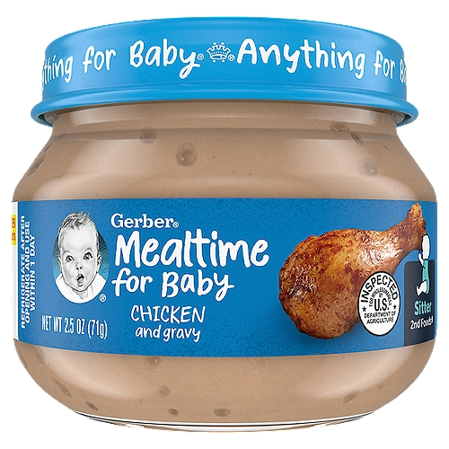 Gerber 2nd Foods meats and poultry are among the best food sources for Zinc for babies.