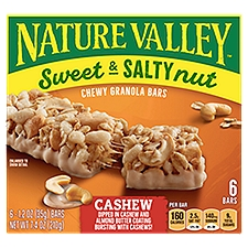 Nature Valley Sweet & Salty Nut - Cashew Granola Bars, 7.4 Ounce