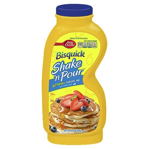 Shake 'n Pour. Makes 12-15 pancakes.