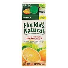 Florida's Natural 100% Premium Florida Orange Juice - No Pulp, 52 Fluid ounce