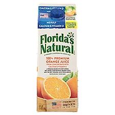Florida's Natural 100% Premium Florida Orange Juice -Calcium & Vit D, 52 Fluid ounce