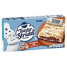 Pillsbury Toaster Strudel Cinnamon Roll Pastries - 6 Count, 11.7 Ounce