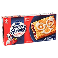 Pillsbury Toaster Strudel Strawberry Pastries - 6 Count, 11.7 Ounce