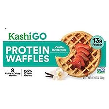 Kashi Protein Waffles Vanilla Buttermilk, 8 Each