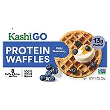 Kashi Protein Waffles Wild Blueberry, 8 Each