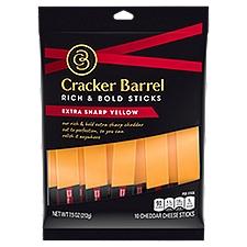Cracker Barrel Sharp Yellow Cheddar Sticks, 7.5 Ounce