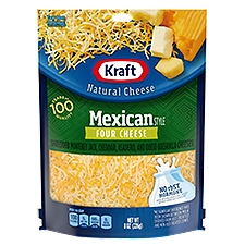 Kraft Mexican Four Cheese Finely Shredded Cheese, 8 Ounce