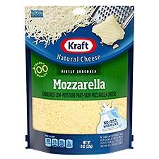 Kraft Natural Finely Shredded Mozzarella Cheese, 8 Ounce