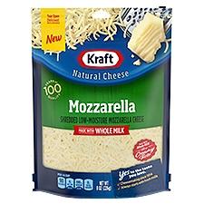 Kraft Whole Milk Mozzarella Shredded Cheese, 8 Ounce