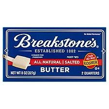 Breakstone's Butter - Salted - All Natural, 8 Ounce