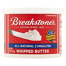 Breakstone's Whipped Butter - Unsalted - All Natural, 8 Ounce