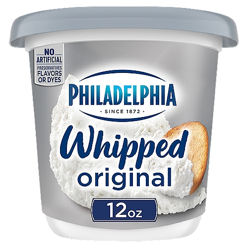PHILADELPHIA Whipped Cream Cheese spread has a light, airy texture that is easy to spread.