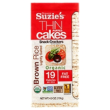 Suzie's Thin Cakes Puffed Rice - Lightly Salted, 4.9 Ounce