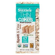 Suzies Thin Cakes - Puffed Spelt & Flax Seed, 5.5 Ounce