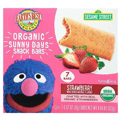 Sesame Street. Made with organic wheat flour. No trans fat.