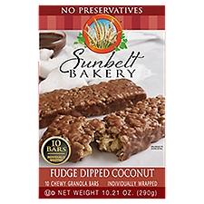 Sunbelt Granola Bars - Coconut Fudge Dipped, 10.21 Ounce