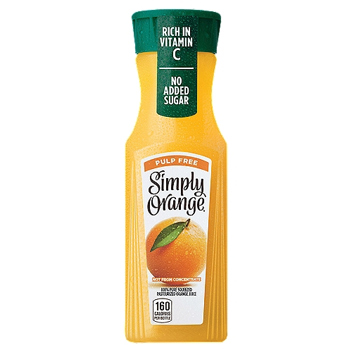 100% Pure Squeezed Pasteurized Orange Juice. A delicious orange juice with a taste that's the next best thing to fresh-squeezed. Try our premium, not-from-concentrate orange juice.
