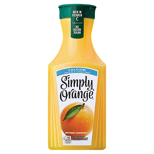 Simply orange juice is also packed with calcium, an essential mineral that helps build and maintain strong bones and teeth, and is an excellent source of vitamin D.