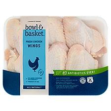 Bowl & Basket Chicken Wings, Fresh, 1.9 Pound