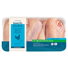 Bowl & Basket  Chicken Split Breasts, Fresh with Ribs, 5 Pound