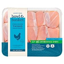 Bowl & Basket Chicken Thighs, Boneless Skinless Fresh, 3 Pound