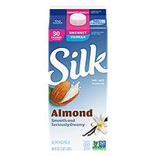 Silk Unsweetened Vanilla Almondmilk, 64 Fluid ounce
