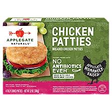 Applegate Natural Breaded Chicken Patties (Frozen), 12 Ounce
