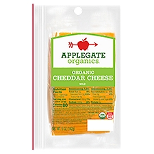 Applegate Organic Mild Cheddar Cheese Slices, 5 Ounce