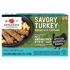 Applegate Natural Savory Turkey Breakfast Sausage (Frozen), 7 Ounce