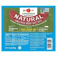 Applegate Natural Uncured Beef Hot Dog, 10 Ounce