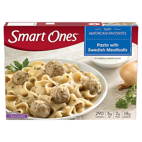 Swedish meatballs in a savory beef and sour cream sauce with wide pasta