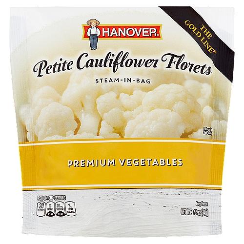 Hanover Steam-In-Bag Petite Cauliflower Florets Premium Vegetables, 12 oz