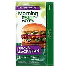 MorningStar Farms Spicy Black Bean Burger, 9.5 Ounce