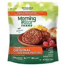 MorningStar Farms Breakfast Original Sausage Patties, 8 Ounce